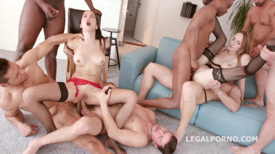 8on2 DAP Gangbang With Belle Claire & Francys Belle