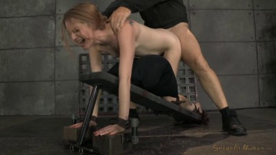 Stunning Ela Darling Tied Face Down Ass Up Stuffed Full Of Hard Cock Brutal Deepthroat (2014)