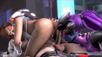 Two lesbian hentai whores fuck together