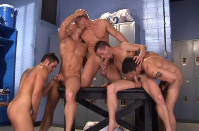 Gangbang Party With Young Sportsmen