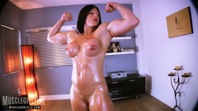 Muscle girl flex Goddess Rapture