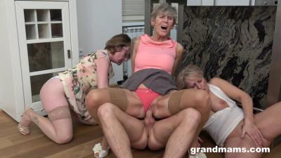 Lucky Mugger Fucks Three Angry Grannies