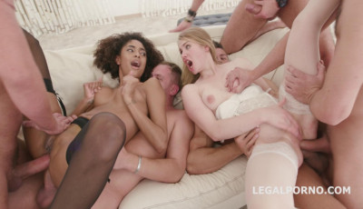 No Prisoners 5on2 Gangbang With Double Anal