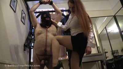Ballbustingchicks - Rebekka Raynor - Humiliated Squeezed And Kicked