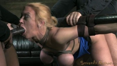 Big Titted Blond Bimbo Deepthroats 10In Of Cock
