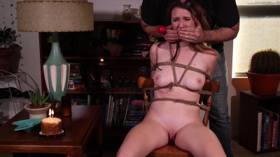Bondage, domination, torture and hogtie for horny hot model Full HD