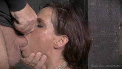 Syren De Mer shackled down with epic brutal deepthroat on BBC