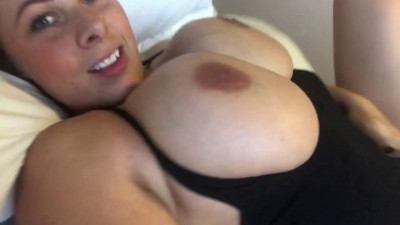 Busty milf gianna showing her big titties in the bed