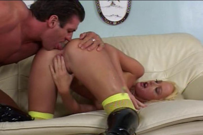 Hot Blond Gets Anal Fucked Upside Down