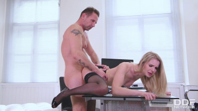 Blonde Babe Seduces Teacher – Rose
