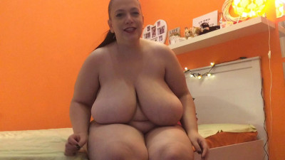 Big boob bbw playing in front of you