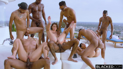 Summer Interracial Orgy With 3 Bad Bitches