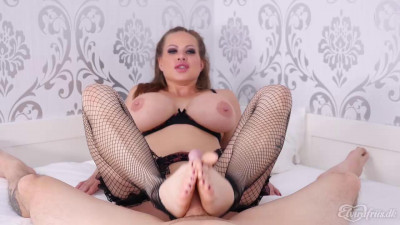 Danish Amateur Sanna rough footjob