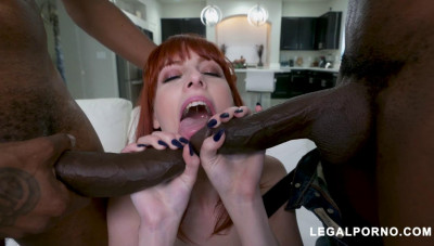 Redhead Slut Alex Harper Destroyed By Black Dicks
