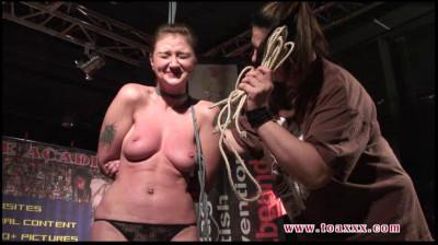 Description Public Tit Torture Lesson for Julia Power