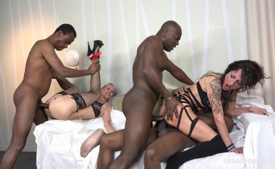 Interracial gangbang festival with fisting