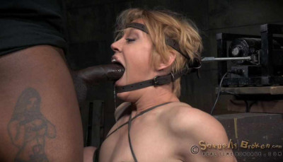 Big Titted Blonde Brutally Facefucked & Massive Sybian Orgasms