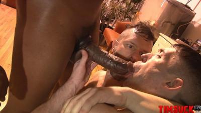 Kyle Ferris & James Eden devour Krave Moore's dick