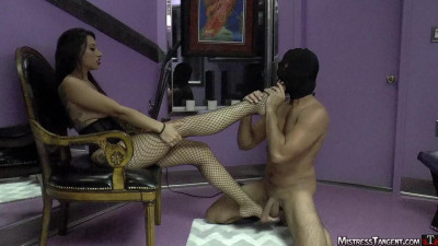 As a vibrator stimulates her engorged