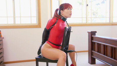 Chair Bound in Red Thong Bodysuit 1080p