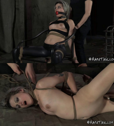 Super bondage, hogtie and torture for very sexy hot bitch