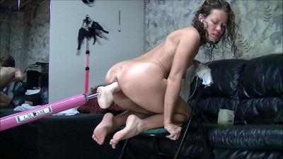 Dirty Wife Machine fucked in a chair (2017)
