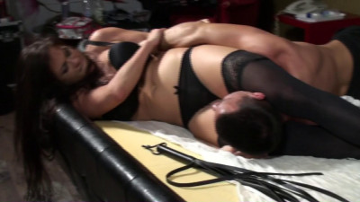 3 Hungarian Girls Brutalize Guy on Bed — Full HD 1080p