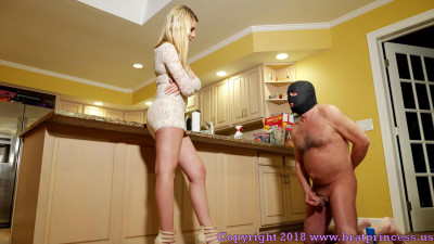 Humiliates And Dominates Her Human Wallet With Chastity And Edging