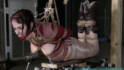 Description Cherry Doll Caged, Walked, Clamped, Spanked and Hogtied - Scene 2 - HD 720p