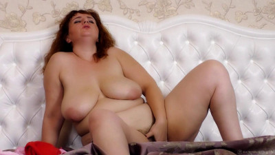 huge tit hairy milf katrin masturbate at home