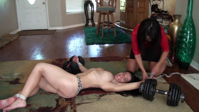 Body builder bound for tickle torment