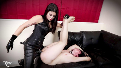 Miss Roper - Popping An 18 Year Old's Strap On Cherry
