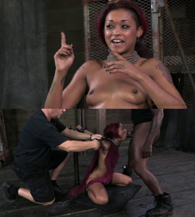 Tight bondage, domination and torture for beautiful ebony