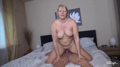 German Blondie Sweet Susi Gets Cum On Her Big Tits