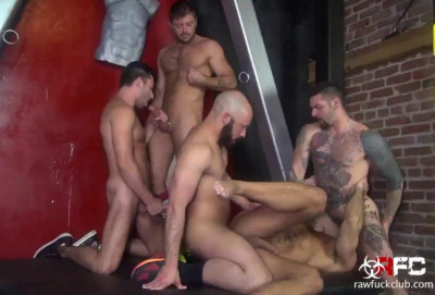 Raw gangbang with horny fuckers