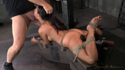 Ava Dalush Bound Down On Sex Machine, Brutal Drooling Deepthroat Multiple Orgasms