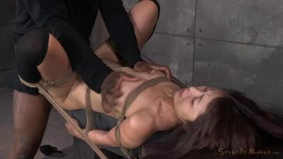 Petite Asian fucktoy Marica Hase used hard in tight bondage