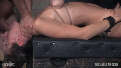 Hot MILF has her tits brutally bound