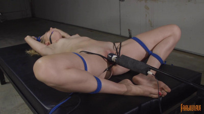 Description Cutie Pie Blonde Cums in Bondage