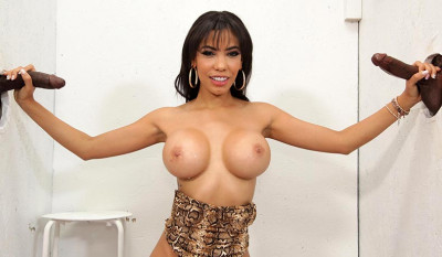 Gia Milana & Two Big Black Cock
