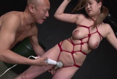 Asian Slave Enjoys Bondage & Cream Pie