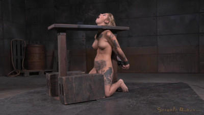 Tattooed Blonde Kleio Valentien Bound On Sybian With Drooling Destroyed Deepthroat (2015)