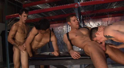 American Fuckers In Rough Gangbang