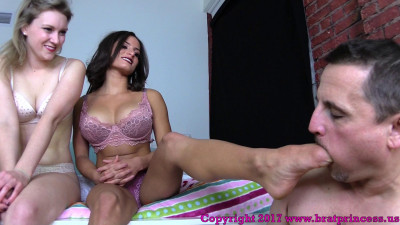 We Want Our Feet Worshipped While In Bed - Chichi And Kendall