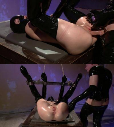 Super bondage, strappado and torture for sexy slut in latex part 3