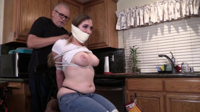 Samantha Grace-Posing tied up and gagged to pay her rent
