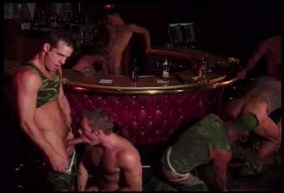 Military males like group sex