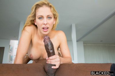 Hot Blonde Lady Was Always Attracted By Big Black Dicks