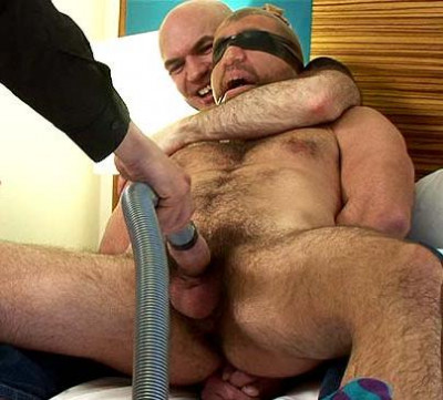 Trained to suck cock, gagged and blindfolded