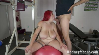 Description Huge tit redhead in blue top kamille tasted big cock at sofa